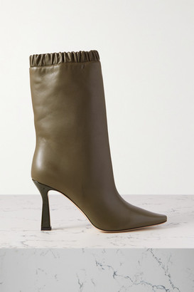 Wandler Lina Leather Ankle Boots - Army green