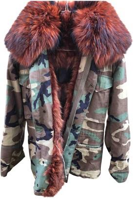 Mr & Mrs Furs Orange Fur Coat for Women