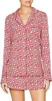 Stella McCartney Poppy Snoozing Shorts Silk-Blend Pajama Set, Red Hearts