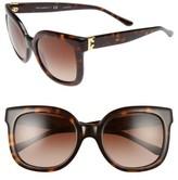 Tory Burch Women's 54Mm Oversized Sunglasses - Dark Tortoise