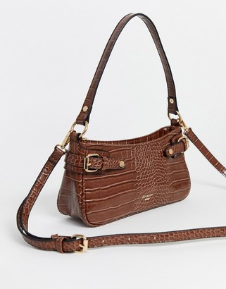 Dune baguette shoulder bag in tan