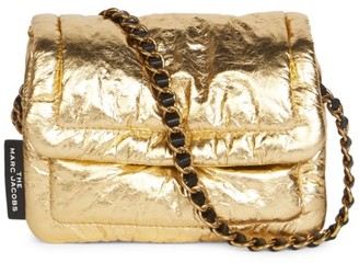 Marc Jacobs Mini The Pillow Metallic Leather Crossbody Bag