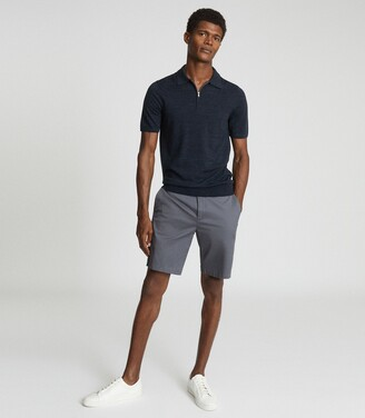 Reiss Wicket - Casual Chino Shorts in Airforce Blue