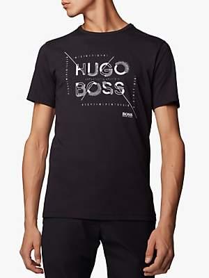 HUGO BOSS BOSS Coordinate Logo Crew Neck T-Shirt, Black