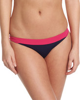 Diane von Furstenberg Malibu Colorblock Hipster Swim Bottom, Midnight/Pink