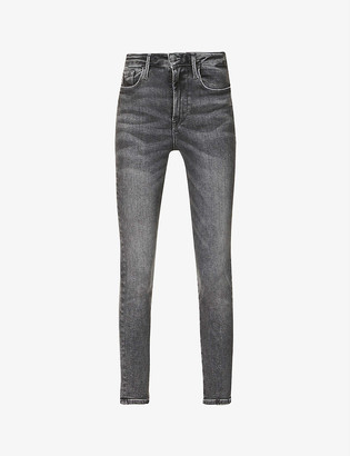 Frame Le One skinny mid-rise organic cotton and recycled polyester-blend jeans