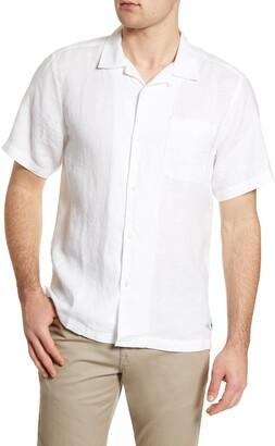 Tommy Bahama Sea Glass Short Sleeve Button-Up Linen Shirt