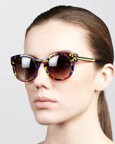 Magnety Round Confetti Sunglasses, Multicolor