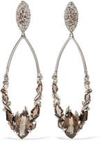 Alexis Bittar Silver quartz clip earrings