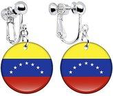 Body Candy Venezuela Flag Clip on Earrings