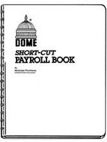Dome Publishing Company- Inc. DOM650 Short Cut Payroll Book- 1-50 Employees- 9in.x11in.- Blue