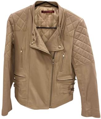 Comptoir des Cotonniers Beige Leather Jacket for Women