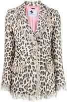 Blumarine leopard print single-breasted blazer