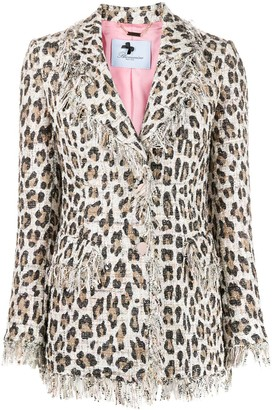 Blumarine Leopard Print Single-Breasted Blazer
