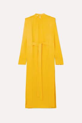 Stella McCartney + Net Sustain Belted Cady Midi Dress - Yellow