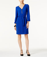 INC International Concepts Petite Zip-Front Belted Dress, Only at Macy's