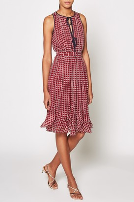 Joie Rolanda Keyhole Sleeveless Silk Dress