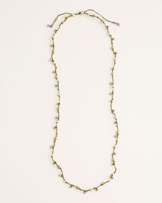 Chico's Long Green Beaded Necklace