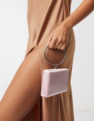 True Decadence satin boxy grab bag with ring handle