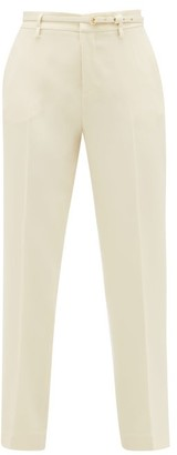 RED Valentino Tailored Cropped-leg Crepe Trousers - Ivory