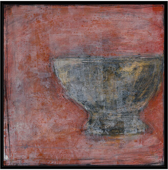 Jonathan Bass Studio Vessel Of Antiquity Ii, Decorative Framed Hand Embellished Canvas
