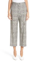 Tibi Women's Plaid High Rise Crop Pants