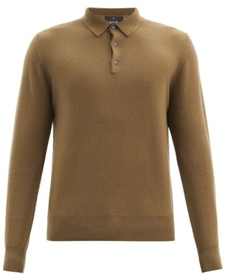 Allude Cashmere Long-sleeved Polo Shirt - Khaki