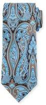 Ermenegildo Zegna Paisley-Print Silk Tie, Brown