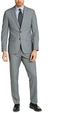 Van Heusen Men's Slim-Fit Black/White Tic Suit