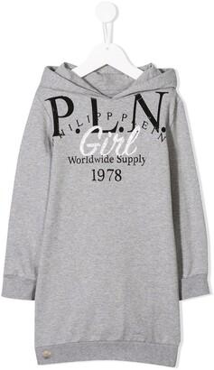 Philipp Plein Junior Hooded Sweat Dress