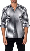 Jared Lang Gingham Heart Long Sleeve Semi-Fitted Shirt