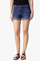 7 For All Mankind Relaxed Mid Roll Up Short In Brilliant Broken Twill