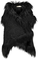Stella McCartney Lynn oversized faux fur brocade vest