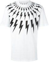 Neil Barrett lightning bolt print T-shirt