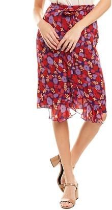 Anna Sui Pop Petunia Chiffon Skirt