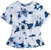 Levi's Floral-Print Peplum Top, Big Girls