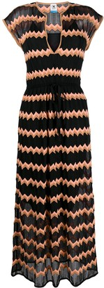 M Missoni Zig-Zag Patterned Maxi Dress