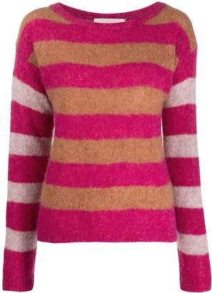 Chiara Bertani striped knit jumper