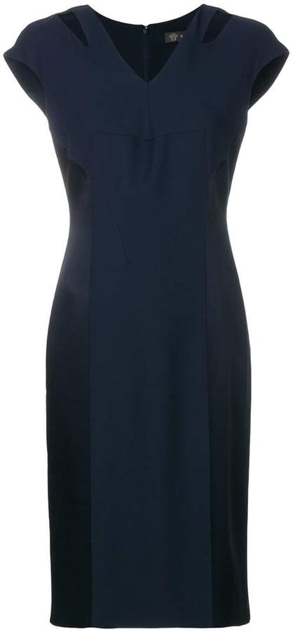 Versace fitted V-neck dress