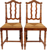 One Kings Lane Vintage French Baroque-Style Dining Chairs, S/2