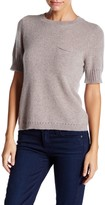 Susina Short Sleeve Cashmere Pullover Sweater