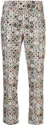 Smythe graphic print straight leg trousers