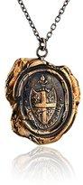 """Pyrrha Bronze Five Fleur De Lys Talisman Necklace, 18"""""""