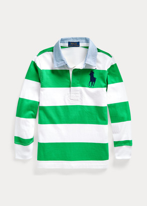 Ralph Lauren Big Pony Striped Cotton Rugby