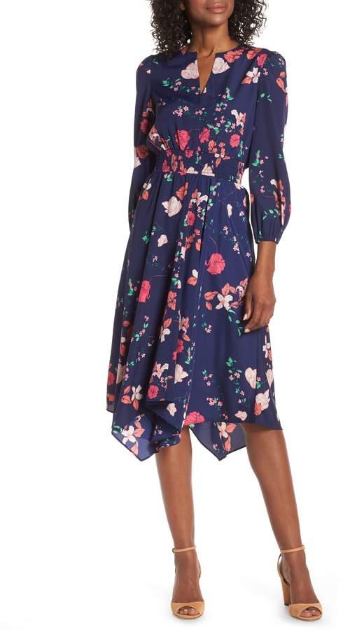 Eliza J Poet Sleeve Smock Waist Dress