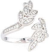 Jude Frances Sonoma Pave Diamond Leaf Ring, 0.28tcw, Size 6.5
