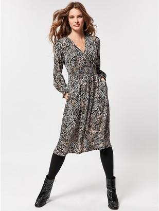 M&Co Petite animal print jersey dress