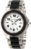 Juicy Couture Women's 1900870 Rich Girl Clear Plastic Bracelet With Black Silicone Inlay Watch