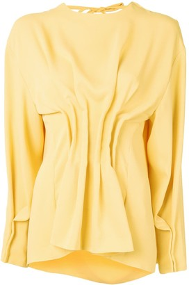 A.W.A.K.E. Mode Ruffle Long-Sleeve Blouse