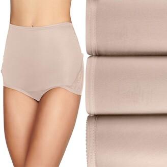 Vanity Fair Women's Perfectly Yours Lace Nouveau Nylon Brief Panty (Fashion Colors)